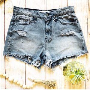 SALE 🎉NWT High Waisted Shorts Raw Hem